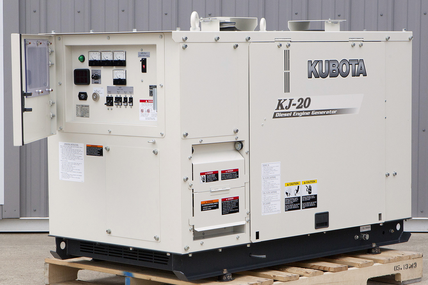 20 6 Kw Kubota Diesel Generator Single Phase 120 240v