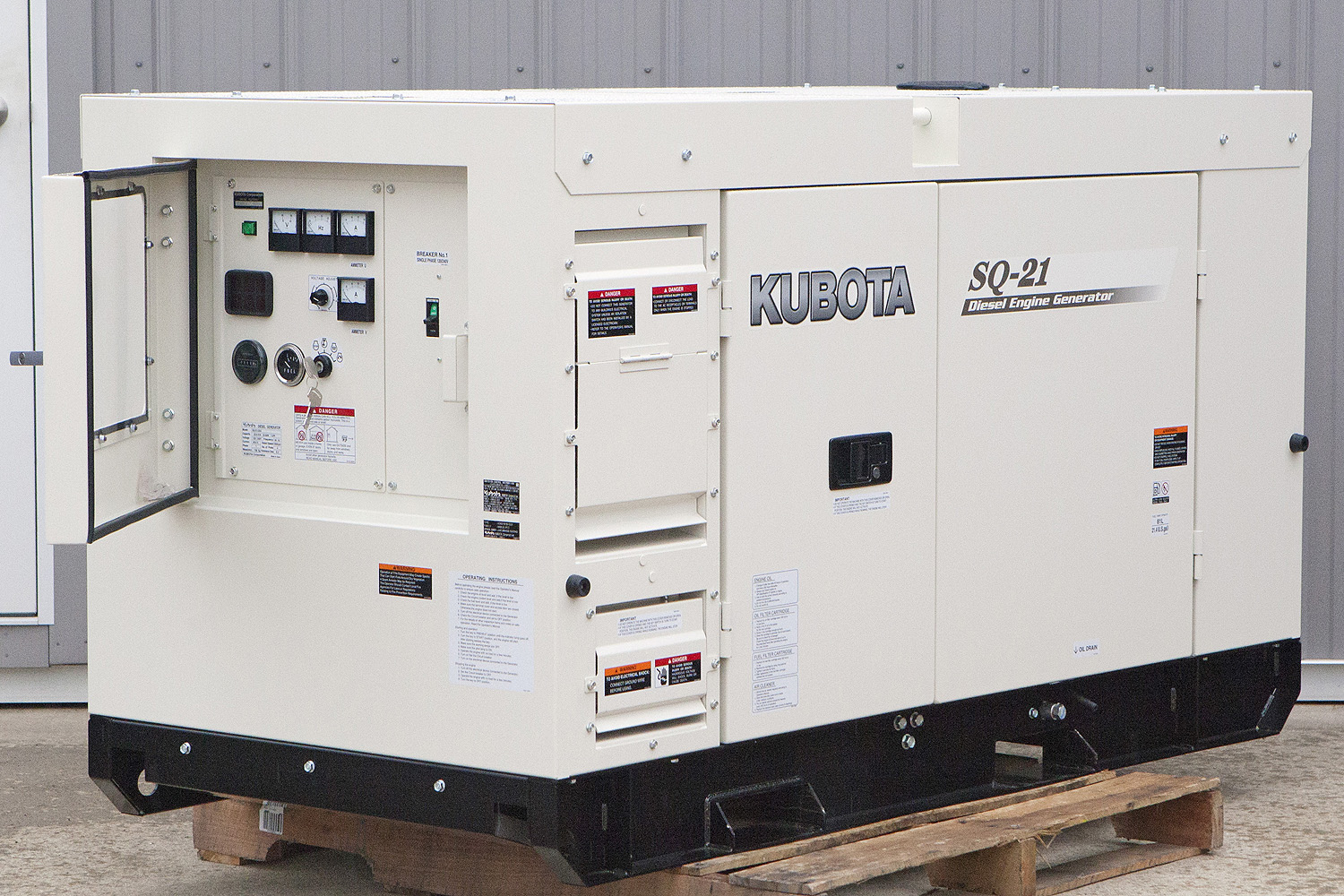 21 6 Kw Kubota Diesel Generator Super Quiet Single