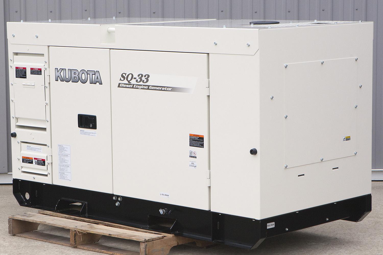 27 8 Kw Kubota Diesel Generator Super Quiet Three Phase