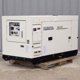 27.8 KW, Kubota Diesel Generator, Super Quiet, Three Phase 480 or Three Phase 240 or 25.2 KW Single Phase 120/240, Switchable, SQ-33SW